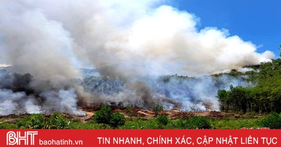 Huy động 700 người kịp thời khống chế cháy rừng ở Can Lộc