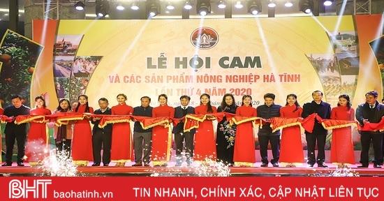 Khai mạc Lễ hội Cam và các sản phẩm nông nghiệp Hà Tĩnh lần thứ 4