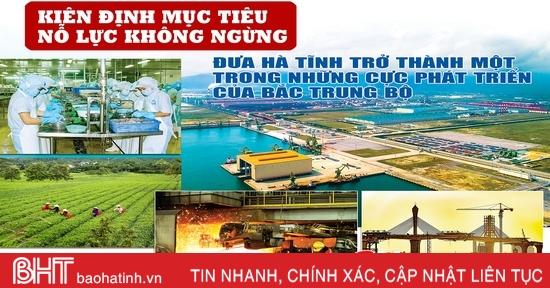 Kiên định mục tiêu, nỗ lực không ngừng, đưa Hà Tĩnh trở thành một trong những cực phát triển của Bắc Trung Bộ