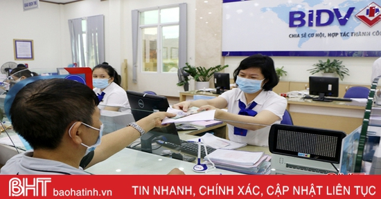 Lãi suất huy động của các ngân hàng Hà Tĩnh tiếp tục giảm kỳ ngắn hạn