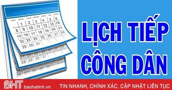 Lãnh đạo Hà Tĩnh tiếp công dân định kỳ tháng 12 vào sáng 15