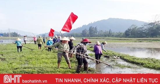 Lộc Hà huy động hơn 20.000 ngày công làm thủy lợi phục vụ sản xuất vụ xuân 2021