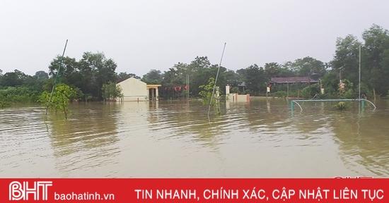 Mưa lớn liên tục, nhiều khu vực miền núi Hà Tĩnh ngập cục bộ