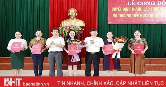 Nghi Xuân thành lập trường học sau sáp nhập xã, thị trấn