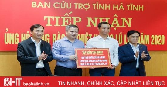 Nhiều doanh nghiệp cam kết đầu tư nhà tránh lũ cho người dân Hà Tĩnh
