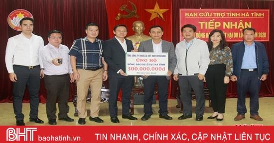 Nhiều doanh nghiệp trên cả nước ủng hộ người dân vùng lũ Hà Tĩnh