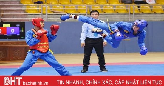 Những màn tung cước đẹp mắt tại Giải Vô địch Vovinam toàn quốc tại Hà Tĩnh