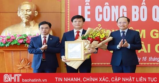 Ông Trịnh Văn Ngọc giữ chức Giám đốc Sở Tài chính Hà Tĩnh