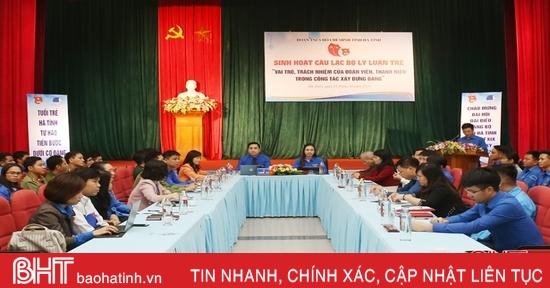 Phát huy vai trò, trách nhiệm của ĐVTN Hà Tĩnh trong công tác xây dựng Đảng
