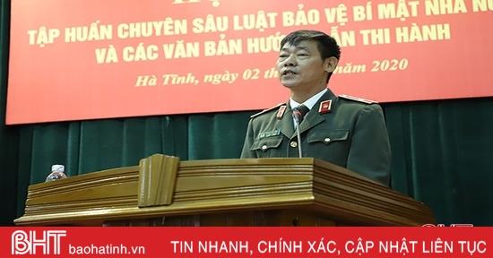 Phổ biến Luật Bảo vệ bí mật Nhà nước cho hơn 300 cán bộ Hà Tĩnh