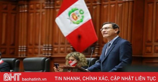 Quyết định phế truất Tổng thống Peru được thông qua với số phiếu tán thành áp đảo tại Quốc hội