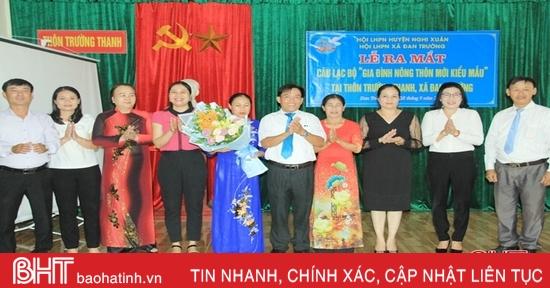 Ra mắt CLB Gia đình nông thôn mới kiểu mẫu đầu tiên ở Nghi Xuân