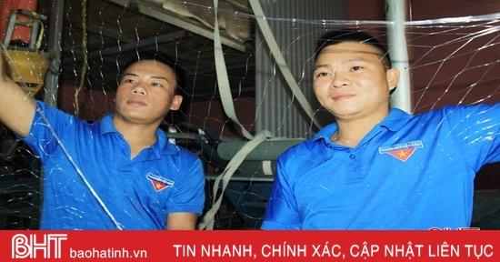 Ra mắt mô hình sản xuất lưới ngư cụ đầu tiên ở Hà Tĩnh