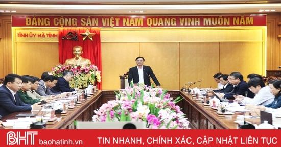 Sớm hoàn thiện dự thảo Quy hoạch tỉnh Hà Tĩnh trình Hội đồng thẩm định Trung ương