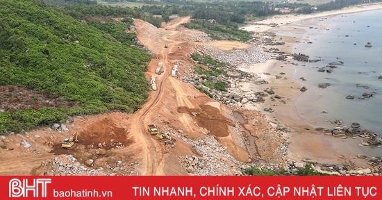 Tháo gỡ vướng mắc, đẩy nhanh tiến độ tuyến đường ven biển Kỳ Xuân - Kỳ Ninh