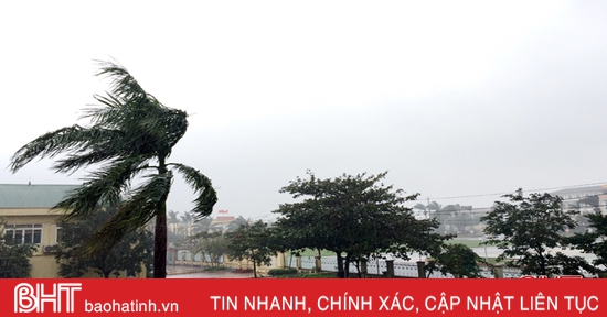 Thị xã Kỳ Anh gió giật cấp 9 kèm theo mưa to