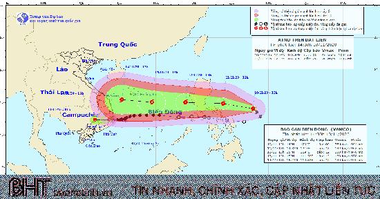 Thông tin về cơn bão gần biển Đông có tên quốc tế Vamco