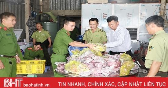 Thu giữ gần 200 kg thịt chim trời ở Đức Thọ và Can Lộc