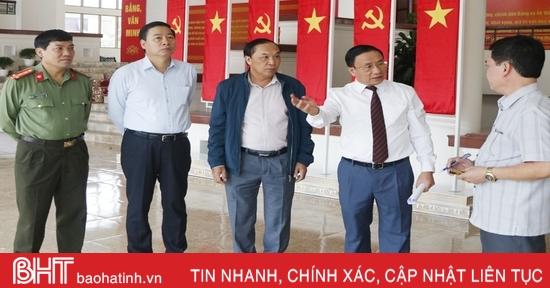 Thường trực Tỉnh ủy kiểm tra công tác chuẩn bị Đại hội Đảng bộ Hà Tĩnh lần thứ XIX