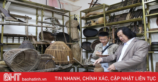 Tiến sỹ Văn học và bảo tàng văn hóa ở làng quê Hà Tĩnh
