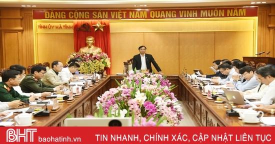 Tiếp tục hoàn thiện Quy chế làm việc của Ban Chấp hành Đảng bộ tỉnh Hà Tĩnh khóa XIX