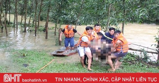 Tìm thấy thi thể thanh niên bị nước lũ cuốn trôi ở Hương Sơn