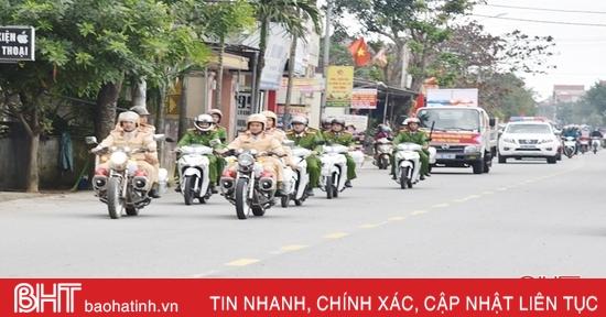 Trấn áp các loại tội phạm, phục vụ Nhân dân Lộc Hà vui tết đón xuân