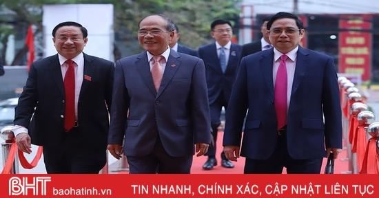 Trưởng ban Tổ chức Trung ương và lãnh đạo các ban, bộ, ngành dự Đại hội Đảng bộ tỉnh Hà Tĩnh lần thứ XIX