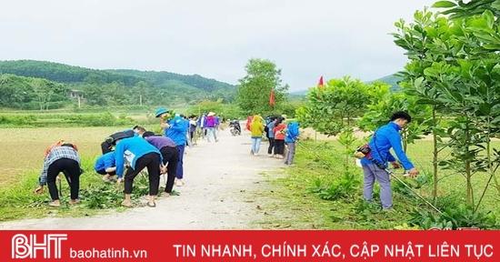 Tuổi trẻ Vũ Quang thực hiện 300 công trình, phần việc xây dựng nông thôn mới