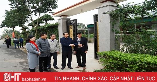Xã nông thôn mới nâng cao ở Hà Tĩnh phải nhìn được hướng phát triển