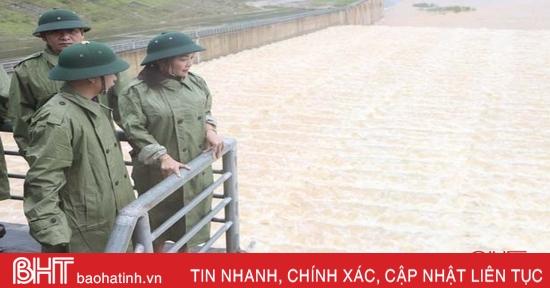 Xả tràn hồ Ngàn Trươi cần đảm bảo an toàn cho vùng hạ du Vũ Quang