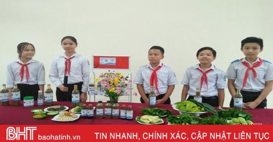 Ý tưởng khởi nghiệp của nhóm học sinh lớp 8 Hà Tĩnh vào bán kết cuộc thi cấp bộ